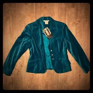 Vintage Electric Blue Velvet Jacket